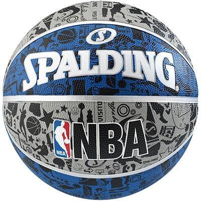 Ballon de Basket NBA Graffiti Bleu Taille 7