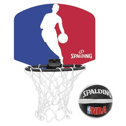 ballon de basket miniboard nba logo man spalding. Black Bedroom Furniture Sets. Home Design Ideas
