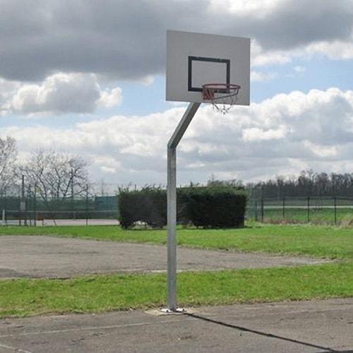 Panier de basket sceller hauteur 3m05 metaluplast for Panneau de basket exterieur