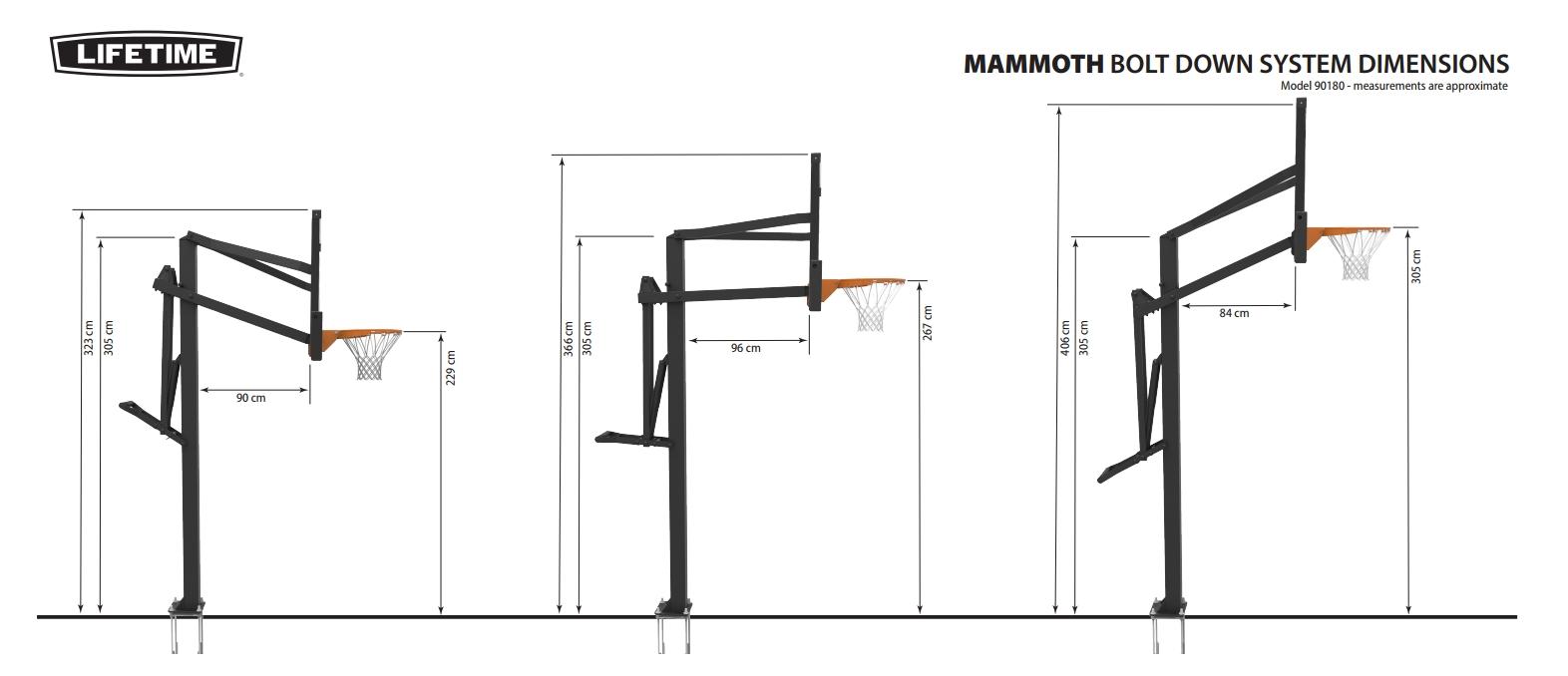 panier de basket sur pied mammouth 54 top qualit prix. Black Bedroom Furniture Sets. Home Design Ideas