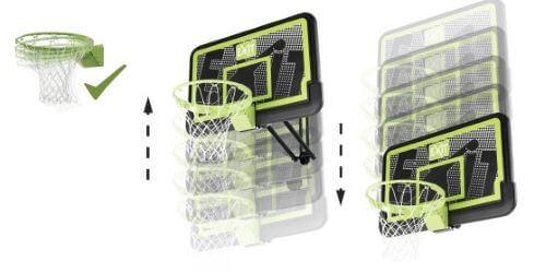 Panneau de basket mural reglable pour toute la famille