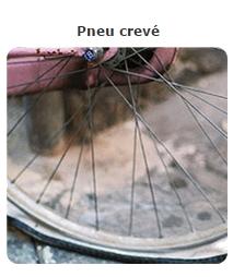 Usure pneu crevé