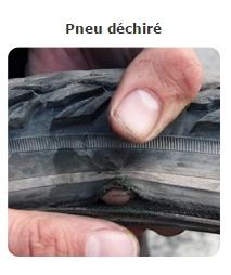 Usure pneu déchiré