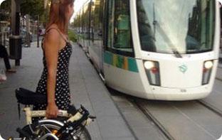 vélo pliant pour tram